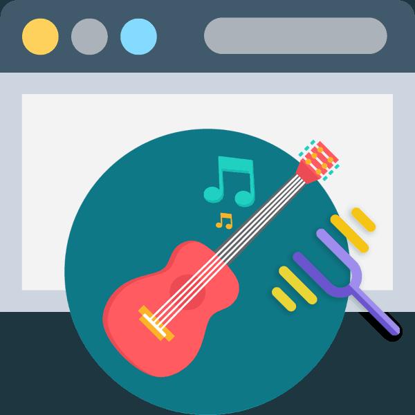 настройка гитары онлайн через микрофон
