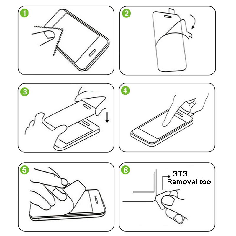 как правильно наклеить защитное стекло на телефон